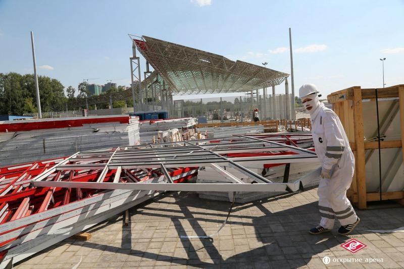 На строительстве спартаковского стадиона «Открытие Арена». Фотоотчет за неделю. 28 июля - 3 августа 2014 года
